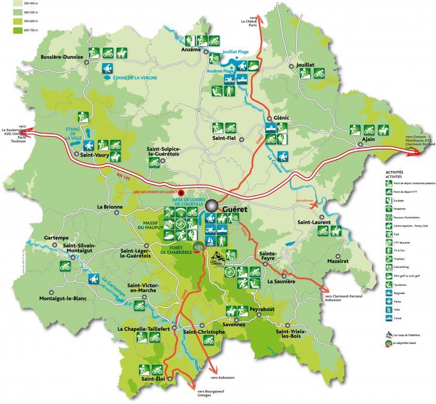 carte touristique de la creuse Carte touristique | Grand Guéret