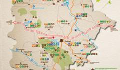 Carte touristique des Monts de Guéret