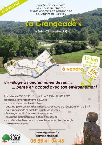 Visuel flyer éco-village La Grangeade