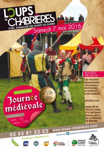 Affiche Journée Médiévale 2016 - Loups de Chabrières