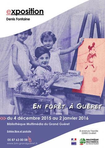 Affiche exposition Denis Fontaine