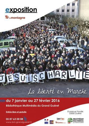 Affiche exposition La liberté en Marche