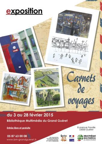 Affiche exposition carnets de voyages