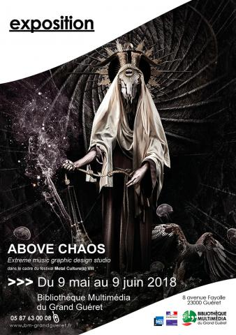 Flyer exposition ABOVE CHAOS BM Grand Guéret mai 2018
