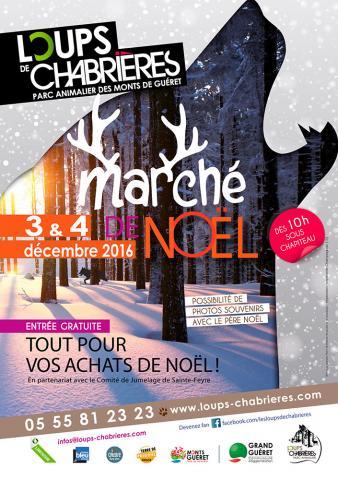 Affiche Marché de Noël 2016 - Loups de Chabrières