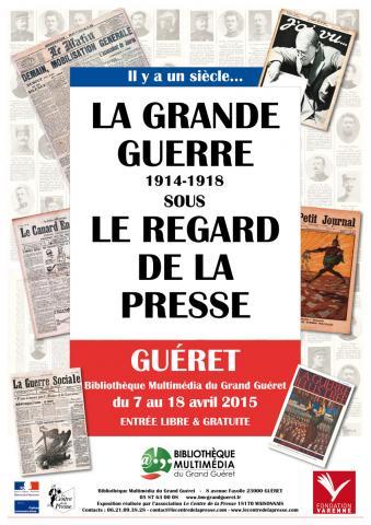 Visuel exposition La Grande Guerre sous le regard de la presse
