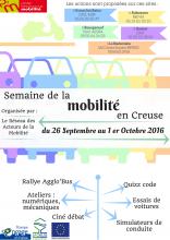 Affiche semaine de la mobilité 2016 Creuse