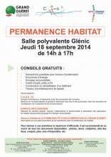 Affiche permanence habitat Glénic 18/09/2014