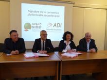 Signature convention agglo Grand Guéret ADI-NA
