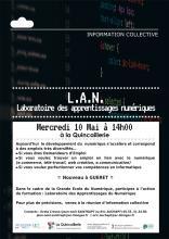 Affiche réunion information Laboratoire des apprentissage du Numérique