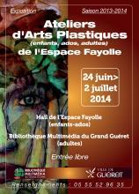 Affiche exposition arts plastiques Fayolle 2014