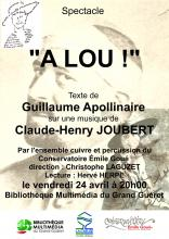 Affiche lecture musicale A Lou