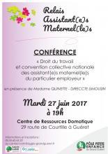 Affiche conférence RAM Grand Guéret 27 juin 2017