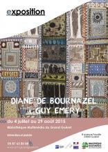 Affiche Exposition Diane de Bournazel et Guy Emery