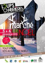 Affiche marché de noël 2015 - Loups de Chabrières