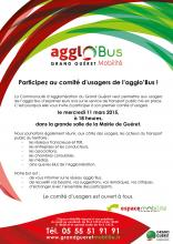Affiche comité usagers agglo'Bus 2015