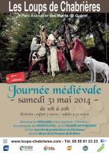 Affiche journée médiévale 2014 - Loups de Chabrières