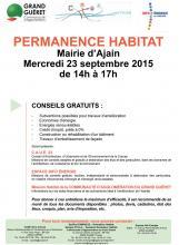 Permanence Habitat Ajain 23.09.2015
