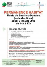 Affiche permanence habitat Bussière-Dunoise