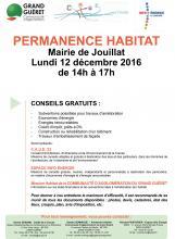 Affiche permanence habitat Jouillat