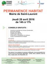 Affiche permanence habitat Saint-Laurent