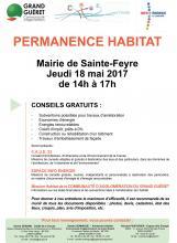 Affiche permanence habitat Sainte-Feyre 18 mai