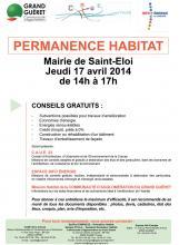 Affiche permanence habitat Saint-Eloi