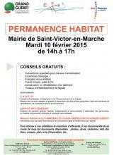 Affiche permanence habitat Saint-Victor-en-Marche