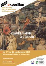 Visuel exposition Claude SIMON à l'oeuvre