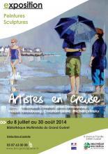Visuel exposition Artistes en Creuse