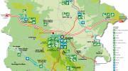 Carte des activités Station Sports Nature des Monts de Guéret